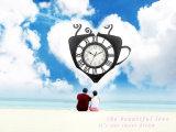 Reloj de pared del cuarzo del diseño de la manera por tiempo del té