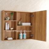 Cabinet de salle de bain en acier inoxydable en bois