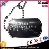 Legering 2mm van het Zink van het Afgietsel van de matrijs de Markeringen van de Hond van het Leger van het Metaal van de Dikte