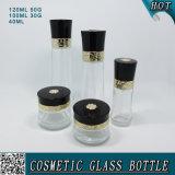 Novo design personalizado Cosmetic Glass Material Bottle Cream Set