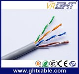 4X0.52mmcu, 1.0mmpe, cruz, cabo interno cinzento do PVC UTP CAT6 de 6.0mm