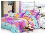 Microfiberの中国からの明白な染められた最もよいシーツの一定の寝具の一定のインポート