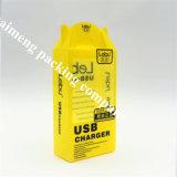 Het beroemde Merk van de Delicatessenwinkel paste de Gele Doos van het Pakket USB van pvc Plastic met 3D Druk (USB pakketdoos) aan