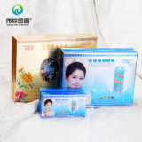 Caixa de presente cosmética da embalagem do papel de impressão do rejuvenescimento da pele