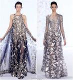 Tissu de cil dans les Deux-Sons avec Matellic Ine pour Dress de Madame