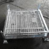 Промышленным клетка Stillage ячеистой сети стального крена пакгауза сложенная хранением