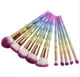 Conjunto de cepillos profesional del maquillaje del nuevo unicornio del arco iris 10PCS