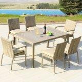 안뜰 정원 홈 호텔 사무실 알루미늄 플라스틱 목제 고리 버들 세공 팔 의자 및 식탁 (J818-160)