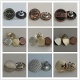 Кнопки кристалла металла способа Rhinestone Fix золотистые