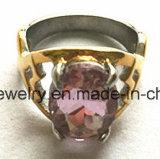 Gietende Ring van de Steen van het Roestvrij staal van de Juwelen van de manier de Groene