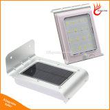 IP65 16 LED الطاقة الشمسية الاستشعار مصباح صوت / كشف الحركة الأمن حديقة الخفيفة في الهواء الطلق مقاوم للماء
