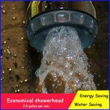 Wasser-Einsparung-Dusche-Kopf mit 4 Typen Muster-Spray-Dusche-Chrom-Ende