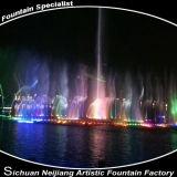 Fontana di musica di controllo di programma disponibile in fiume, lago