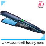 Il titanio veloce professionale placca il ferro piano dei capelli con i piatti del Tourmaline e di ceramica del rivestimento