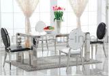 Ноги нержавеющей стали серебра стула столовой подлокотника роскошной гостиницы обедая стул