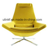 Ei-Form-Leder-Stab sitzt modernen Freizeit-Möbeln vor (UL-LE006)