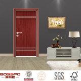 Diseño de madera moderno simple de la puerta del final de la melamina (GSP13-012)