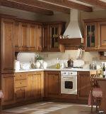 性質の純木の食器棚