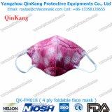Ebene gefaltete schützende Wegwerfgesichtsmaske-Atemschutzmaske mit Cer