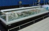 Porta de vidro curvado Aht Seafood Refrigeration Equipment Congelador de caixa