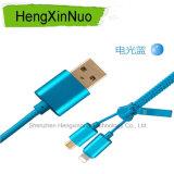 인조 인간과 Apple 비용을 부과 데이터를 위한 1개의 USB 지퍼 데이터 케이블에 대하여 2