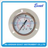 Todo el Calibrar-Manómetro de la presión de los Ss con el calibrador llenado Borde-Líquido delantero