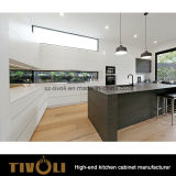 붙박이 부엌 식품 저장실 디자인 단단한 나무 섬 벤치 상단 부엌 가구 (AP061)