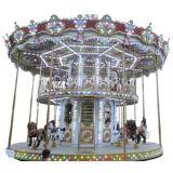 A camada dobro alegre vai o cavalo do círculo (carousel-009)