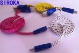 마이크로 USB 케이블, 셀룰라 전화를 위한 대중적인 땋는 USB 데이터 케이블 마이크로 USB 케이블