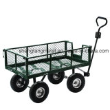 Small Metal Garden Wagon Wire Mesh Cart