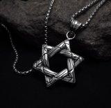 Aço inoxidável do pendente 316L da colar da jóia da forma do Hexagram