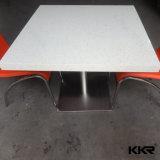 백색 석영 최고 라운드 대중음식점 테이블 및 의자