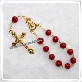 Braccialetti cattolici del rosario di nuova decade di arrivo con la traversa del metallo (IO-CE066)