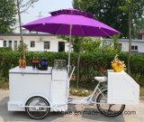 Hielo del verano que vende Trike con el congelador