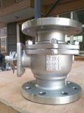 La prueba del escape Válvula de bola SS304 / SS316 en conexión de brida