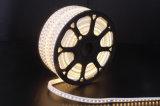 110V/230V는 LED 밧줄 빛 백색 PVC 높은 광도 5050 LED 지구 LED를 방수 처리한다