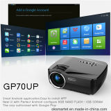 Mini lúmenes portables sin hilos Bluetooth WiFi TV Beamer del proyector Gp70up 1080P 1200 del LED