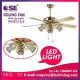 Madeira compensada ventilador de teto decorativo de 52 polegadas com luz do diodo emissor de luz (HgJ52-1512)