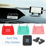 Mobile Phone Silicone Soft Anti-Slip Mat Holder Mount GPS Stand para carro