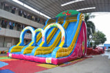 Customized Little Monsters Inflatable Double Slide com brinquedos