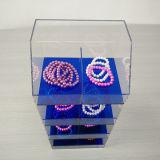 Cas d'exposition acrylique pour le bijou avec 4 couches