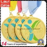 Medalla modificada para requisitos particulares del metal del oro del acontecimiento deportivo 3D