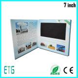 Cartão do convite do papel do presente de 7 polegadas para o LCD