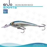 Trastos de pesca artificiales plásticos selectos del salto profundo del cebo del pescador con Vmc los ganchos de leva agudos (SB2408)