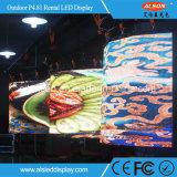 Im Freien P4.81 gebogene/flexible LED-videobildschirm-Bildschirmanzeige für die Ereignisse Miet