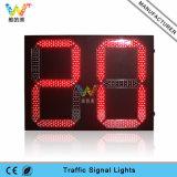 2 Digitalsの二重赤い緑LEDのトラフィックの秒読みのタイマー