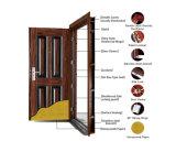 Puerta de acero del metal de la puerta del hierro de la puerta exterior de la puerta de la seguridad de la puerta para el mercado de ultramar