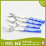 BSCI, LFGB, FDA, färbte Plastikgriff-Tischbesteck