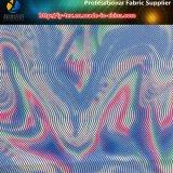 ポリエステルによって編まれるタフタファブリックの抽象的な印刷パターン