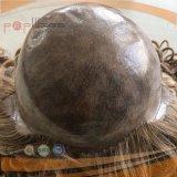 Красивейшей белокурой глубокой волнистой парик шнурка PU человеческих волос связанный рукой полный